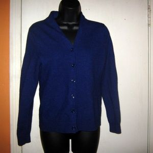 Talbots Medium Merino Wool Cardigan Sweater